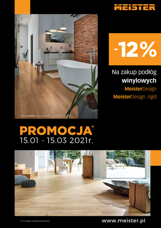Promocja -12% podłogi winylowe Meister
