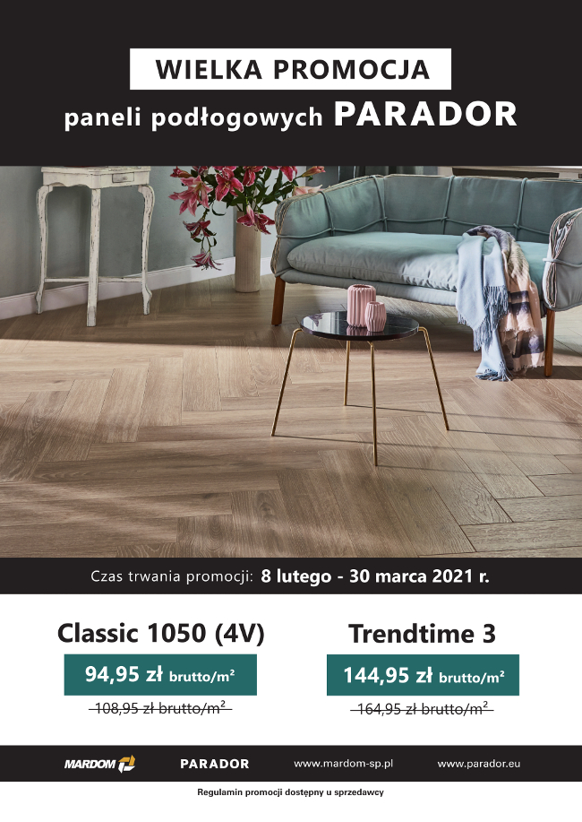 Promocja paneli podłogowych PARADOR