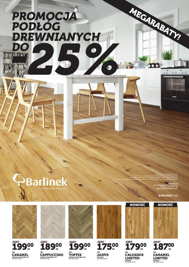 Promocja podłóg drewnianych Barlinek