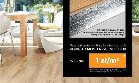 Promocja podłogi laminowane Meister z pokladem za 1zł/m2