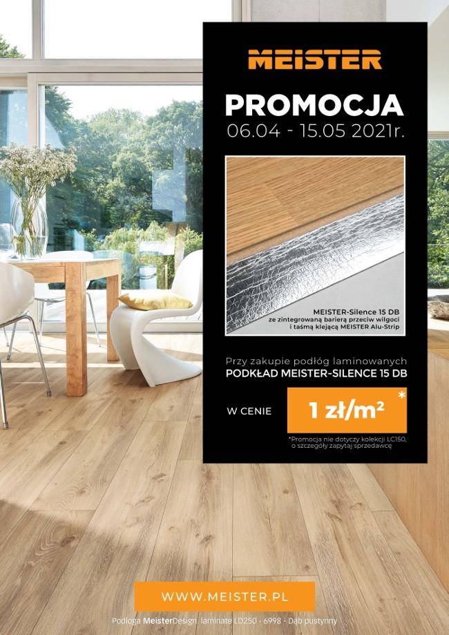 Promocja podłogi laminowane meister + podkład za 1zł/m2