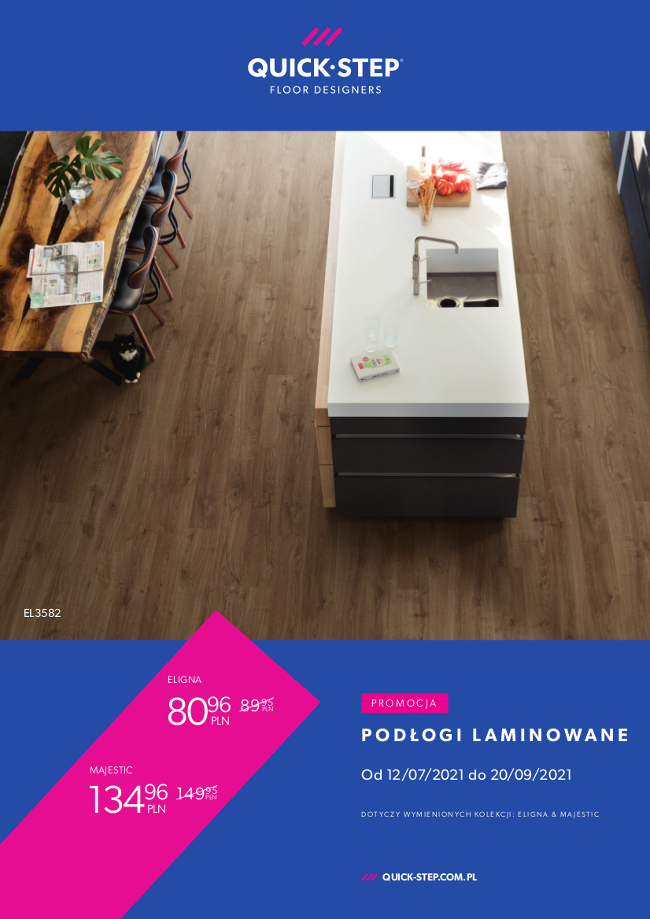 promocja na podłogi laminowane quick-step majestic & eligna